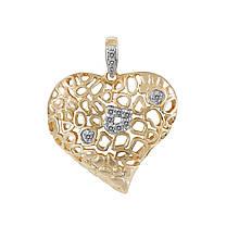 Кулон из желтого золота с бриллиантами (327552)