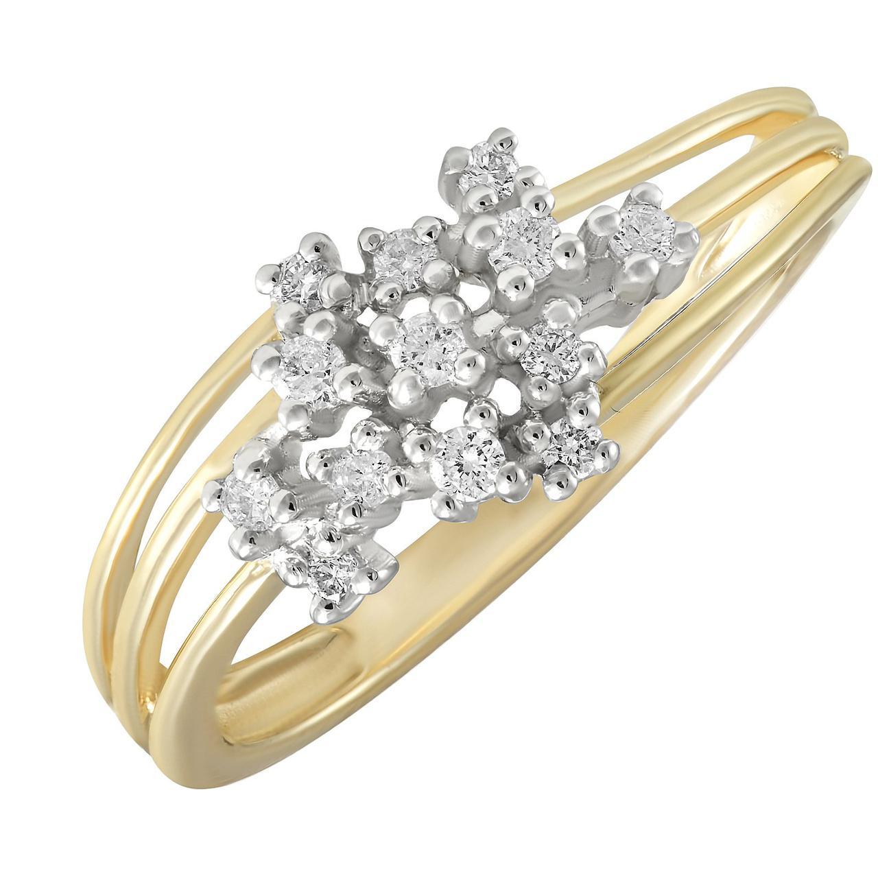Золотое кольцо с бриллиантами, размер 16 (232956)