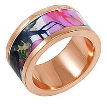 Женское кольцо с эмалью, размер 16.5 (799971)