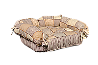 Лежак для домашних животных Мур-Мяу Барон МИНИ Бежевый КОД: hub_krgC25919