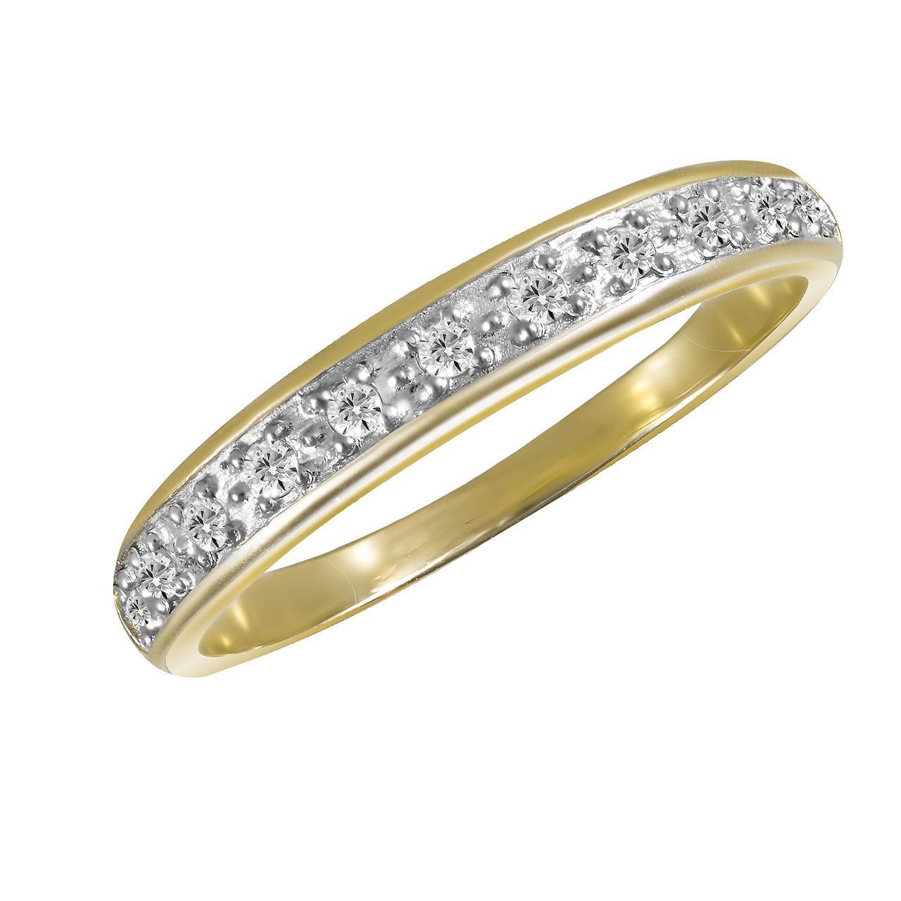 Золотое кольцо с бриллиантами, размер 16.5 (1663024)