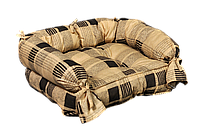 Лежак для домашних животных Мур-Мяу Барон Бежево-коричневый КОД: hub_KKjn04784