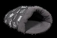 Лежак для домашних животных Мур-Мяу Лапоток Серый КОД: hub_UwsH36954