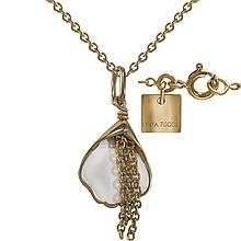 Кулон с цепочкой с эмалью в позолоте (1531109)