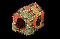 Домик-лежак для домашних животных Мур-Мяу Будочка Коричневый  КОД: hub_eodJ14534