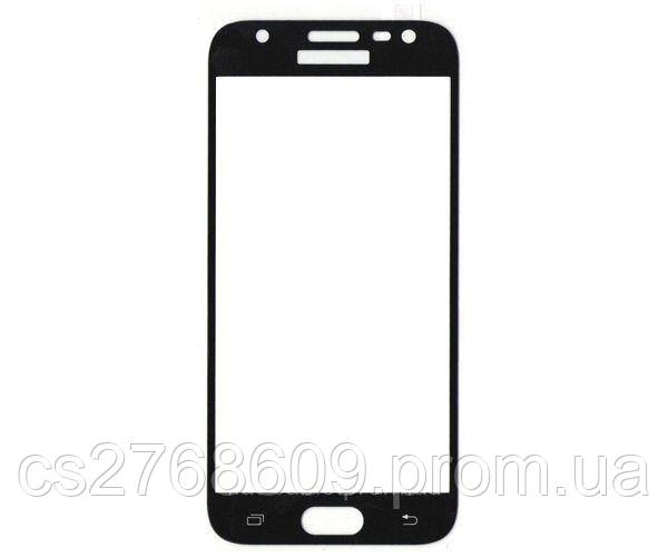 Защитное стекло захисне скло Samsung J330, J3 2017 чорний (тех.пак)