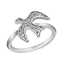Серебряное кольцо с куб. циркониями, размер 16.5 (826905)