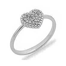 Золотое кольцо с куб. циркониями, размер 16.5 (072985)