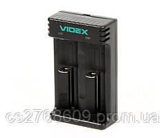 """Мережевий зарядний пристрій для батарейок """"Videx"""" VCH-L200 універсальний"""