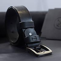 Мужской кожаный ремень Anchor Stuff OldSalt Belt 125 см Черный КОД: as200101