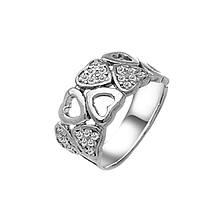 Серебряное кольцо с куб. циркониями, размер 15.5 (143388)