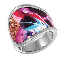 Женское кольцо с эмалью, размер 17.5 (799072)