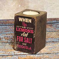 Подсвечник Когда жизнь преподносит лимон..