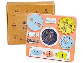 Бизиборд BrainUp Smart Busy Board настільна розвиваюча гра дошка з 10 деталей Міпі28х25см КОД: 6001_2