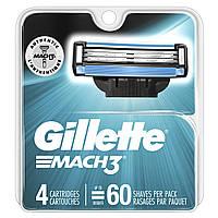 Gillette (USA), MACH3 (4 cartridge), лезвия MACH3 (оригинал США)