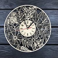 Часы настенные ручной работы деревянные 7Arts Летние цветы  КОД: CL-0065