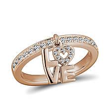 Серебряное кольцо с куб. циркониями, размер 15.5 (1718674)