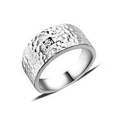 Серебряное кольцо с куб. цирконием, размер 16 (140456)