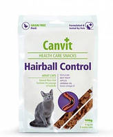 Canvit Hairball Control лакомства для выведения шерсти из желудка кошек, 100г
