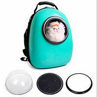 Рюкзак-переноска для собаки AnimAll SpacePet до 7 кг, мятный