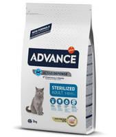 Advance Cat Sterilized для стерилизованных кошек с индейкой, 3 кг