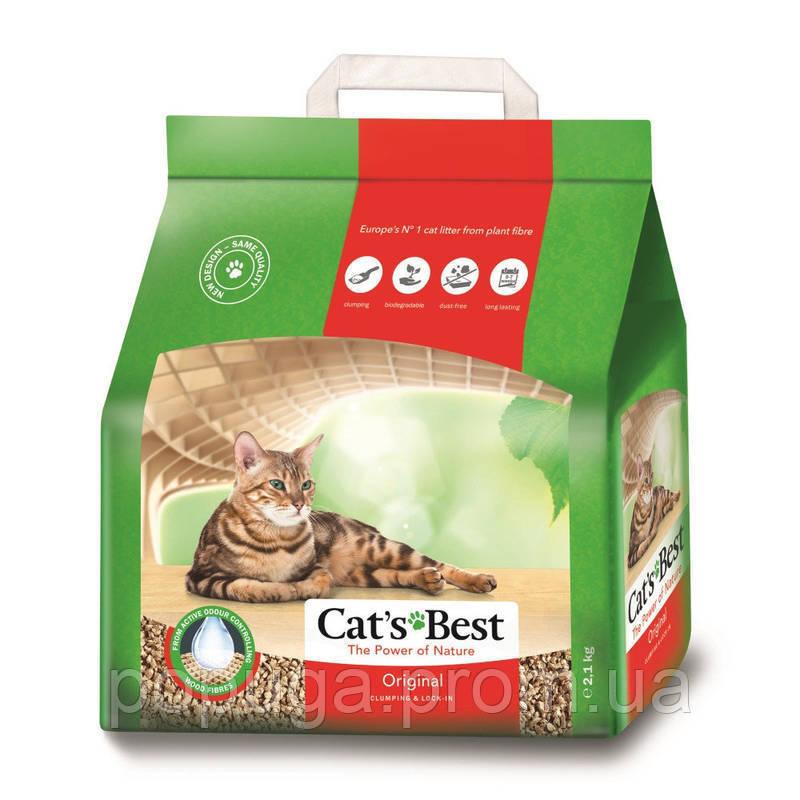 Cat's Best Original - Деревне комкующийся наповнювач для котячого туалету, 5 л