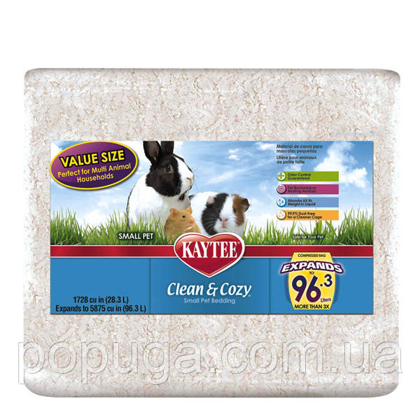 Kaytee Clean&Cozy White 28.3 л. підстилка для гризунів, целюлоза