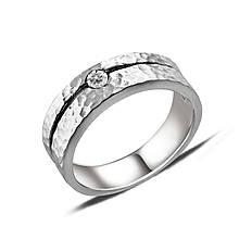 Серебряное кольцо с куб. цирконием, размер 16 (140435)