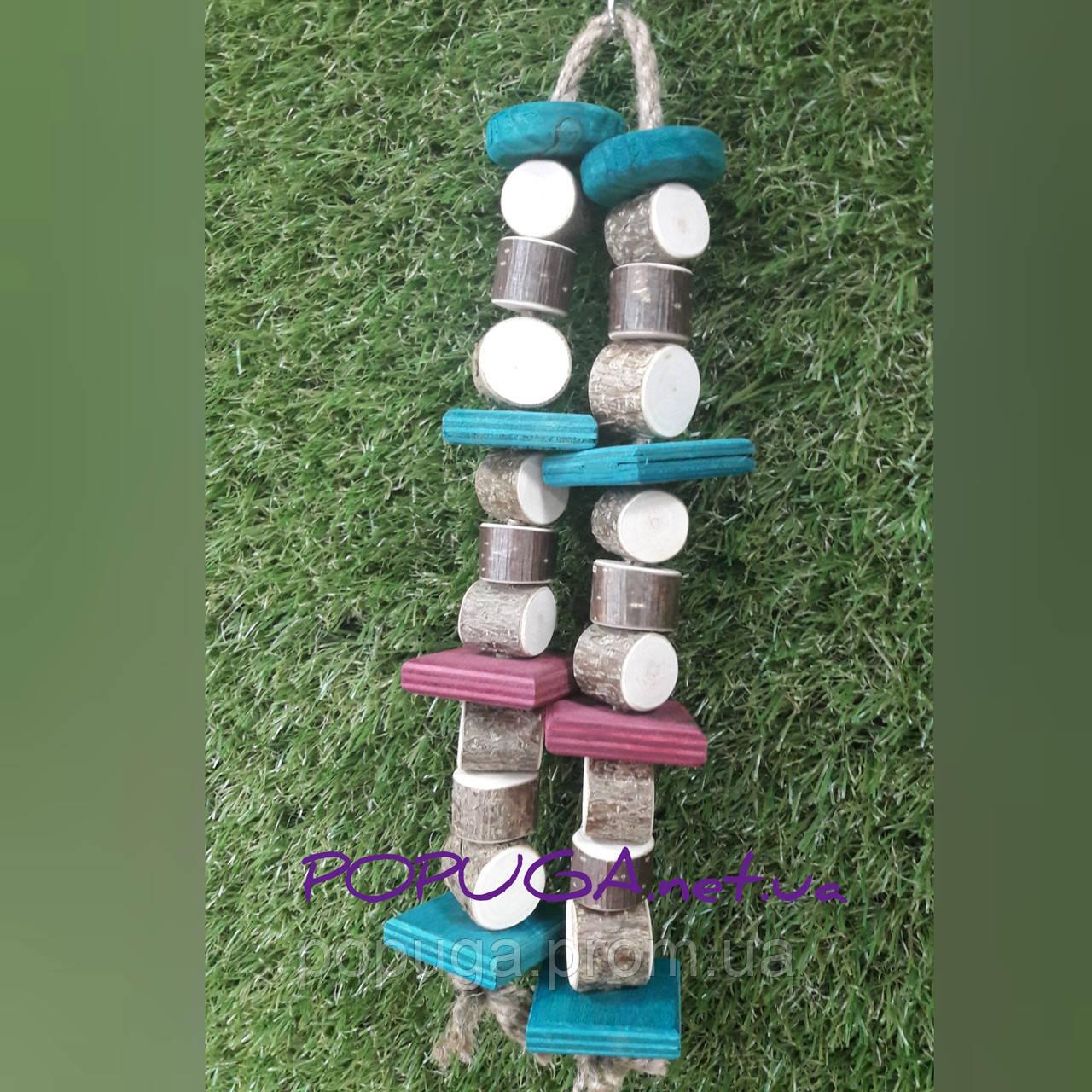 Деревянная игрушка для попугаев, 32 см