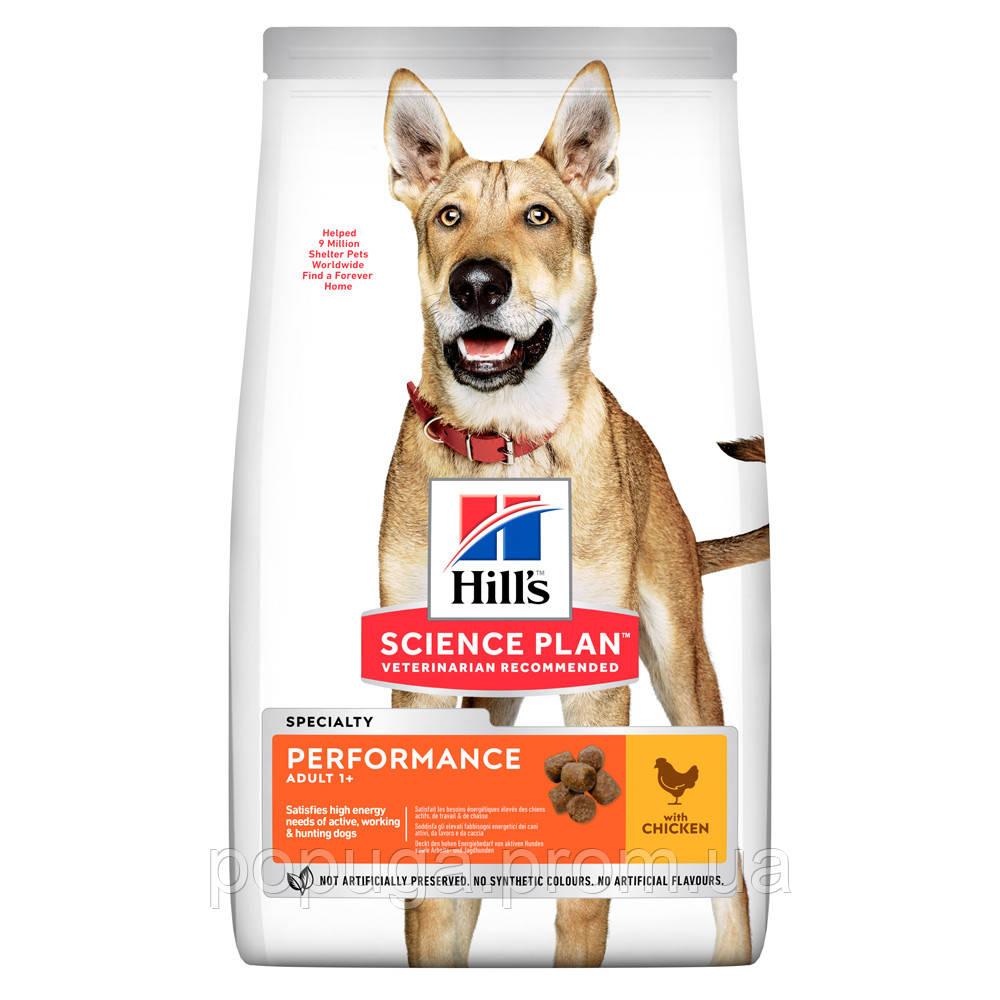 Hill's SP Canine Performance Chicken  корм для активных собак с курицей, 14 кг