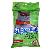 Древесный наполнитель Super Cat 3кг, с ароматом