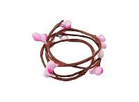 Веточка Верба с почками Розовая 40 см гибкая