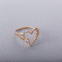 Золотое помолвочное кольцо с сердцем ГП21149