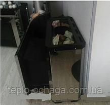 """Печь банная Новаслав """"Горизонталь"""" 18м3, нержавеющий кожух, фото 3"""