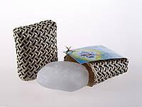 Дезодорант натуральный Кристалл прямоугольной формы в футляре из пальмы Пандан, цельный минерал, 65г