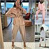 Р 42-52 Женский костюм свободная рубашка с брюками Батал 22041-1