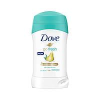 """Дезодорант-стік для жінок """"Груша і алое віра"""" Dove Deodorant Stick Go Fresh 40 мл"""