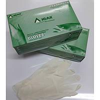 Перчатки медицинские латексные опудренные IGAR размер M,уп.100 шт.