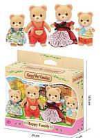 Семья медвежат,фигурки животных,фигурки медвежата Sylvanian Families (аналог)