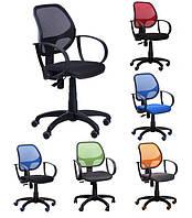 Компьютерное кресло Сетка Бит/АМФ-8 с подлокотниками в расцветках ТМ AMF 127697 черное
