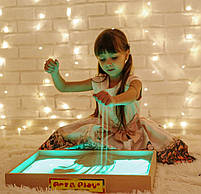 Світлова пісочниця 50х33см Art&Play® вільха кольорове світло, фото 2