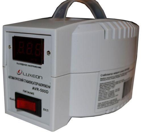 Стабилизатор напряжения LUXEON AVR-500 D (белый)