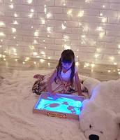 Світлова пісочниця 50х33см Art&Play® вільха кольорове світло, фото 3