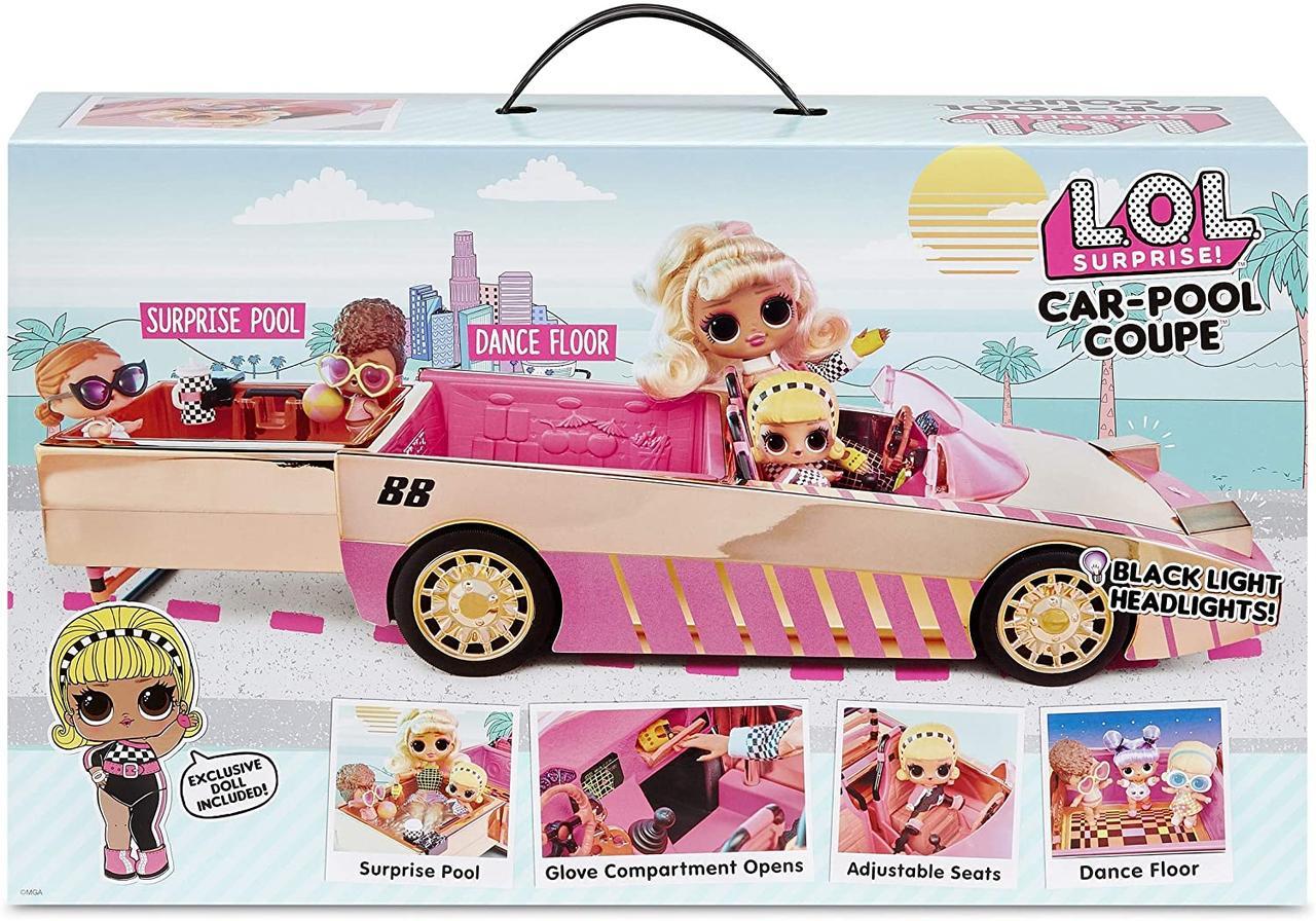 LOL Сюрприз! Автомобиль-купе с эксклюзивной куклой Оригинал, сюрпризом-бассейном и танцполом (565222E7C)