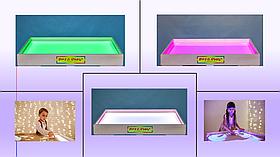 Світлова пісочниця 70х50см Art&Play® вільха кольорове світло