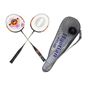 Две ракетки для бадминтона + чехол для игры взрослым и детям.