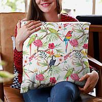 Подушка с дизайнерским принтом Тропики