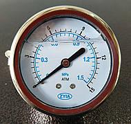 Манометр жидконаполненный ZYIA торцевой диаметром 40 мм (на панель, 10 атм)