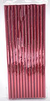 Трубочки коктейльные цвет красный 25 штук