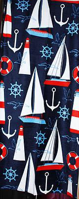 Пляжное полотенце Кораблики